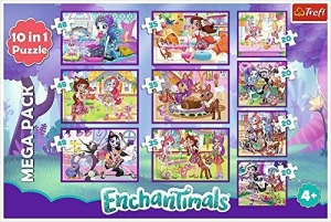 90354 TREFL PUZZLE ENCHANTIMALS 10w1 MEGA PACK