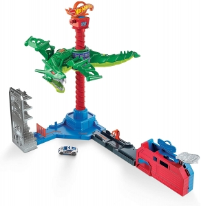 GJL13 HOT WHEELS CITY ATAK SMOKA TORY ZESTAW TOR